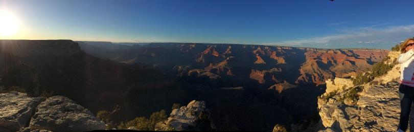 Yavapai Point, Grand Canyon, AZ-Sunset PANO